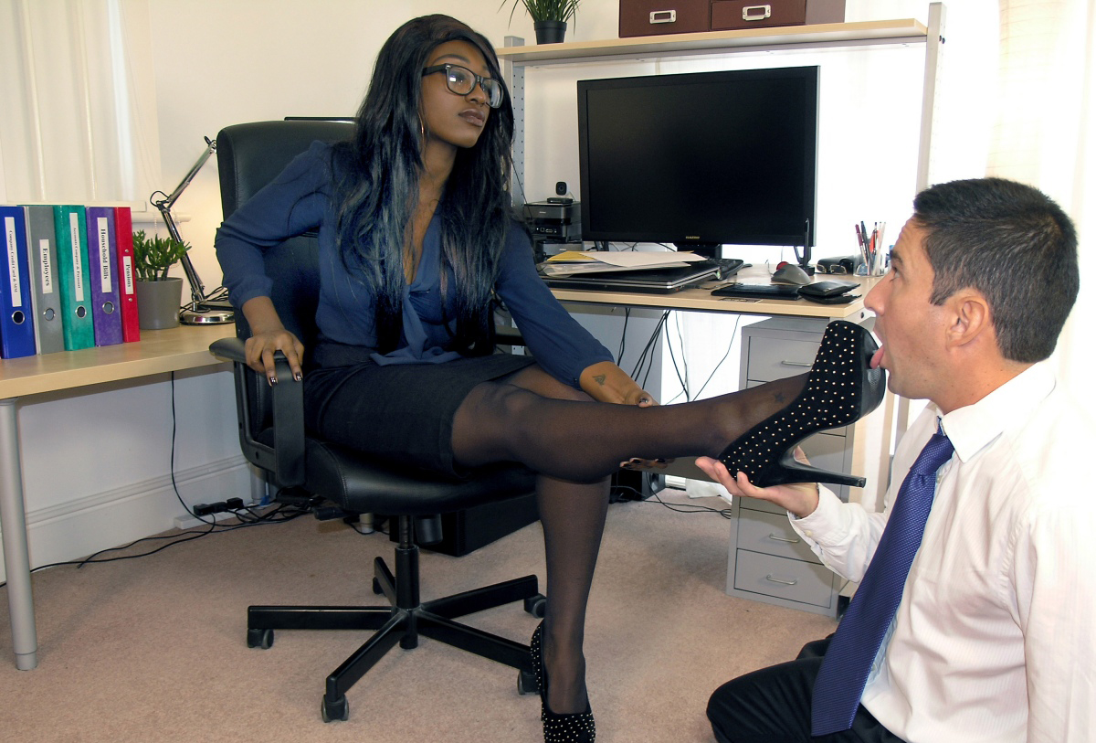 Ebony office fuck