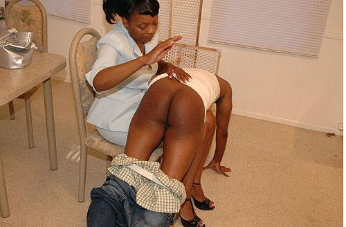 Ebony Mistress Spanking